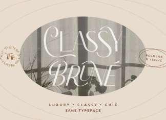 Classy Brune Sans Serif Font