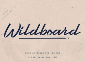 Wildboard Script Font