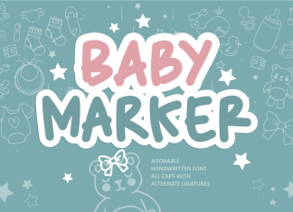 Baby Marker Display Font
