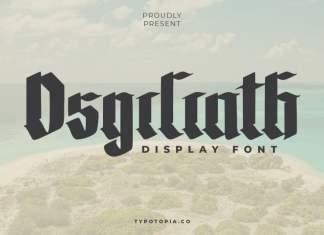 The Osgiliath Display Font