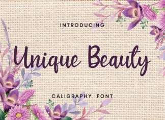 Unique Beauty Script Font