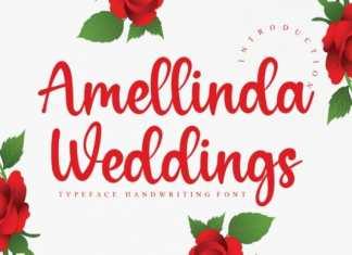 Amellinda Weddings Script Font