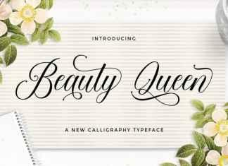 Beauty Queen Calligraphy Font