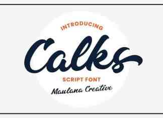 Calks Script Font