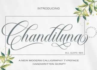 Chandiluna Calligraphy Font