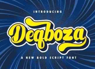 Deqboza Script Font