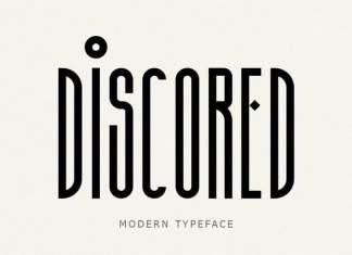 Discored Display Font