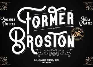 Former Broston Display Font