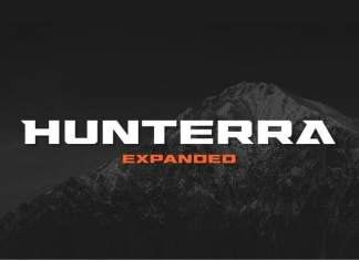 Hunterra Display Font