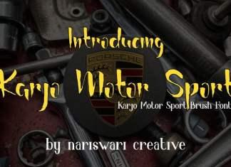 Karjo Motor Sport Script Font