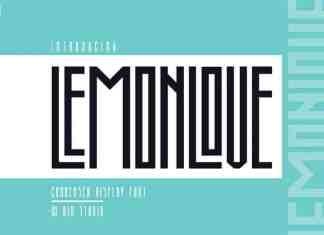 Lemonlove Display Font