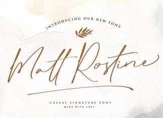 Matt Rostine Handwritten Font