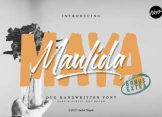 Maulida Maya Brush Font