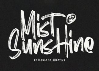 Mist Sunshine Brush Font