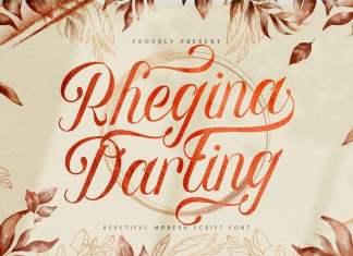 Rhegina Darling Calligraphy Font