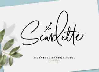 Scarlette Signature Font