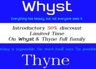 Whyst Sans Serif Font