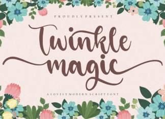 Twinkle Magic Script Font
