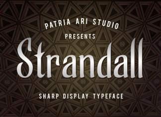 Strandall Display Font