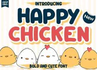 Happy Chicken Display Font