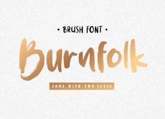 BURNFOLK Brush Font
