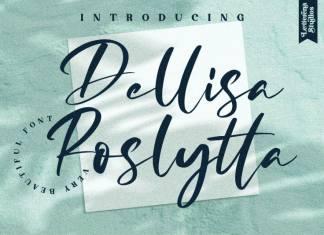 Dellisa Roslytta Script Font