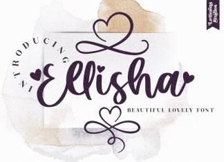 Ellisha Calligraphy Font