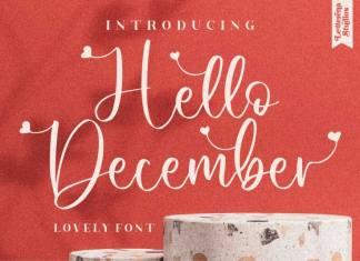 Hello December Calligraphy Font