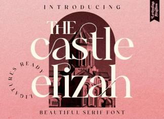 The Castle Elizah Serif Font