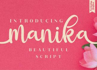 Manika Calligraphy Font