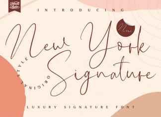 New York Signature Script Font