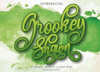 Grookey Shawn Script Font