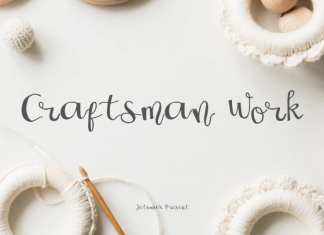 Craftsman Work Script Font