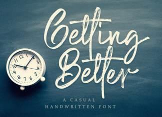 Getting Better - Brush Font