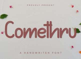 Comethru Display Font