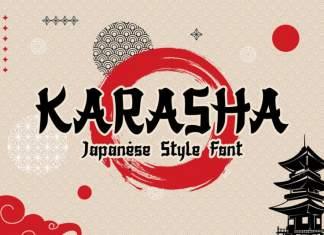 Karasha Display Font