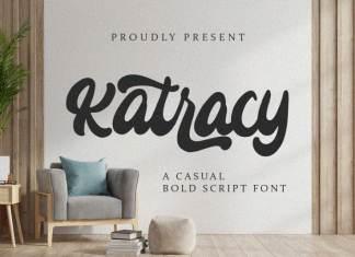 Katracy - Bold Script Font