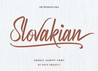 Slovakian Calligraphy Font