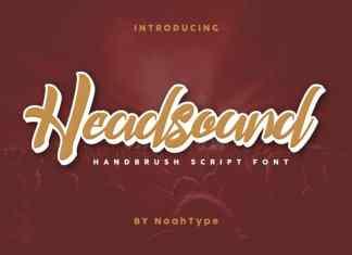 Headsound Brush Font