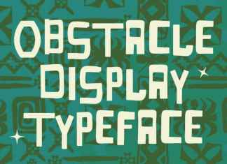 Obstacle Display Font