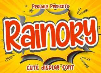 Rainory Display Font