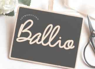 Ballio Handwritten Font