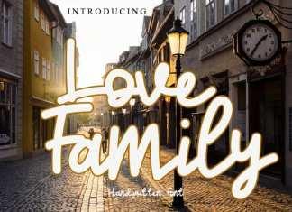Love Family Handwritten Font