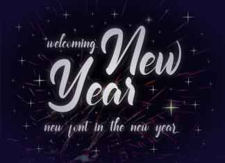 Welcoming New Year Script Font