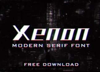 Xenon Display Font