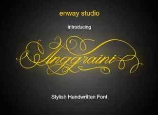 Anggraini Calligraphy Font