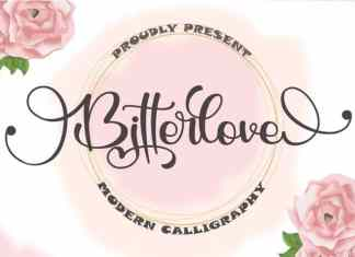 Bitterlove Calligraphy Font