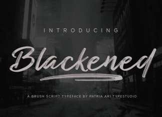 Blackened Brush Font