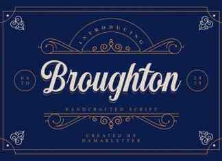 Broughton Script Font