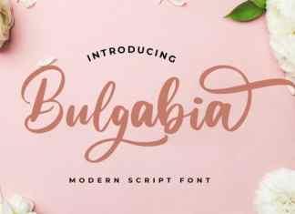 Bulgabia Calligraphy Font